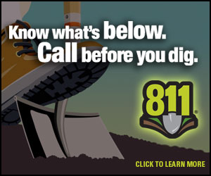 Know what's below. Call before you dig.